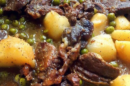 pea stew dish